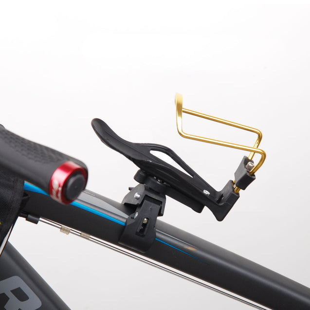 Adjustable Aluminum Alloy Bike Water Bottle Holder Cage+Handlebar Clamp Mount - Anyvolume.com