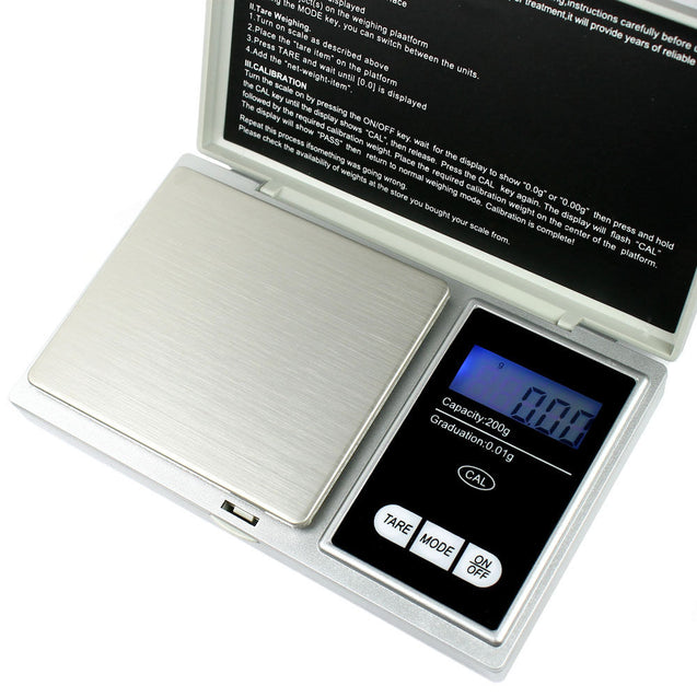 Clearance 200gx0.01g Precision Digital Pocket Scale for Gold Jewelry Reload - Anyvolume.com