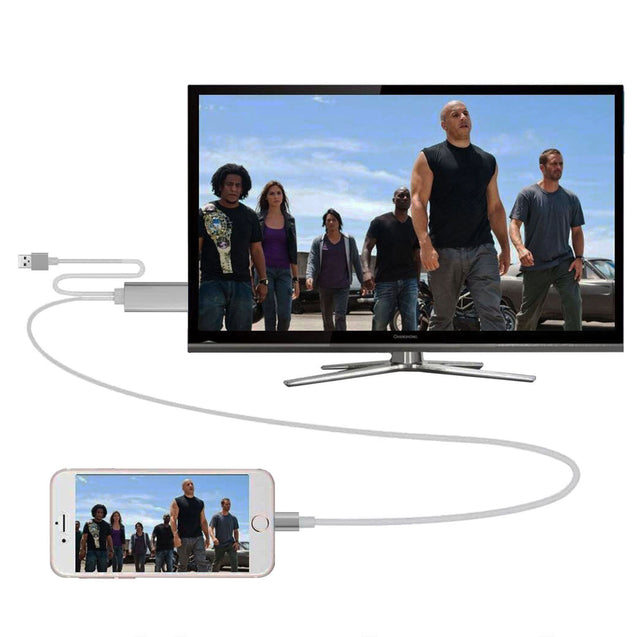 AirPlay 8 pin Apple Lightning to HDMI HDTV AV Cable Adapter for iPhone X 8 7 6 5 - Anyvolume.com