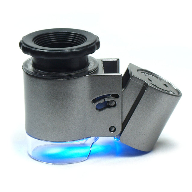 Mini 50X  Lighted Jewelers Loupe - Magnifier with LED-Fluorescence Lights #9882A - Anyvolume.com