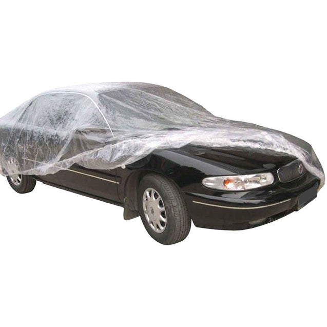 5 PACK Clear Plastic Disposable Car Cover Temporary Universal Rain Dust Garage - Anyvolume.com