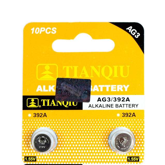 100 PCS LR41 AG3 392 LR736 1.5V Alkaline Battery for Watch Remote - Anyvolume.com