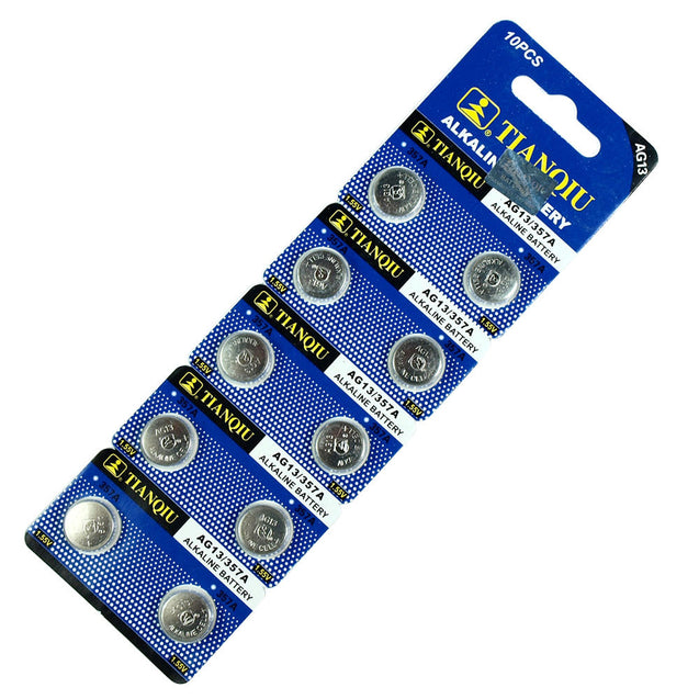 500 PCS LR44 AG13 357 LR1154 1.5V Alkaline Battery for Watch Lighter