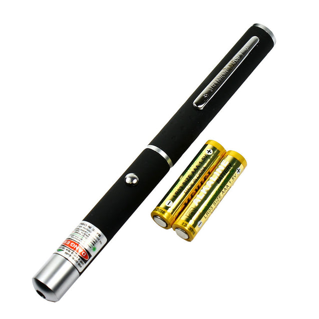 High Power 5mW Bright Green dot beam Laser Pointer Pen with storage case - Anyvolume.com