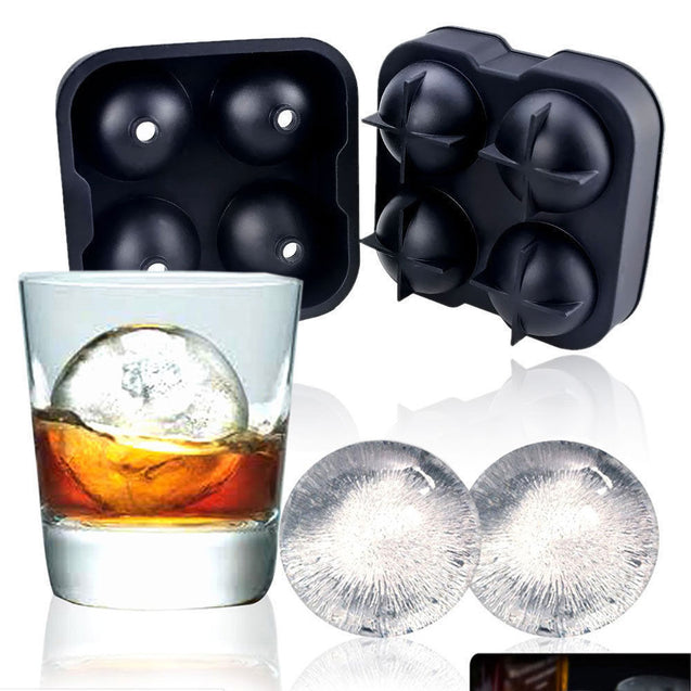 ICE Balls Maker Round Sphere Tray Mold Cube Whiskey Ball Cocktails Silicone - Anyvolume.com