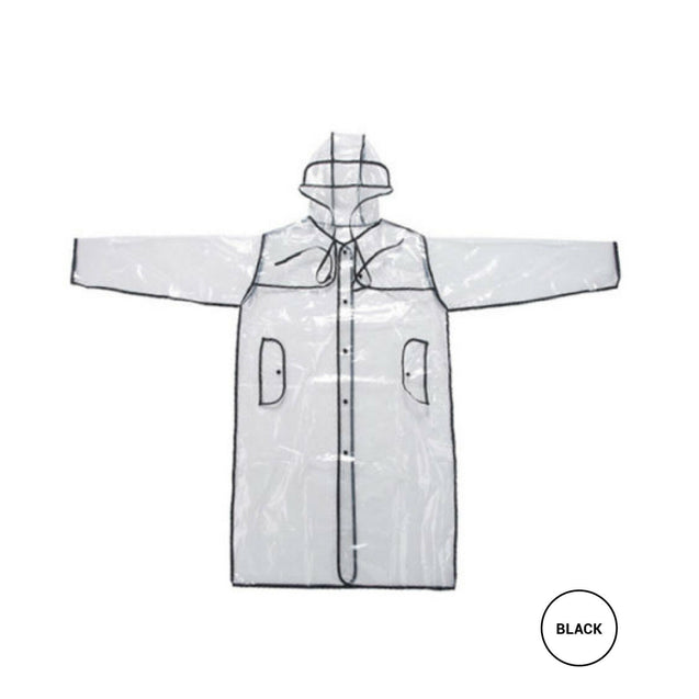 Transparent Hoodie Clear Rain Coat Runway EVA Raincoat Rainwear 2 Style 2 Color