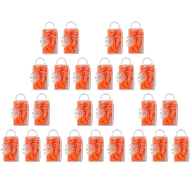 Silicone Corded Ear Plugs Anti Noise Hearing Protection 5 10 or 25 Pairs w/ Case - Anyvolume.com