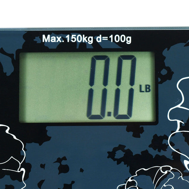 Glass Platform Slim Digital Bathroom Scale / Personal Scale - 330 LBS / 150KG - Anyvolume.com