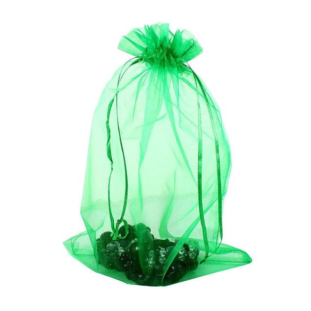 100 PCS Sheer Organza Wedding Party Decoration Favour Gift Bags Candy Pouches - Anyvolume.com