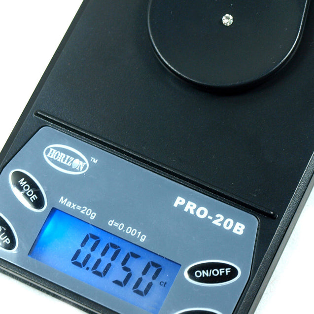20g x 0.001g / 0.005ct Digital Precision Jewelry Scale with 60X Jeweler's Loupe - Anyvolume.com