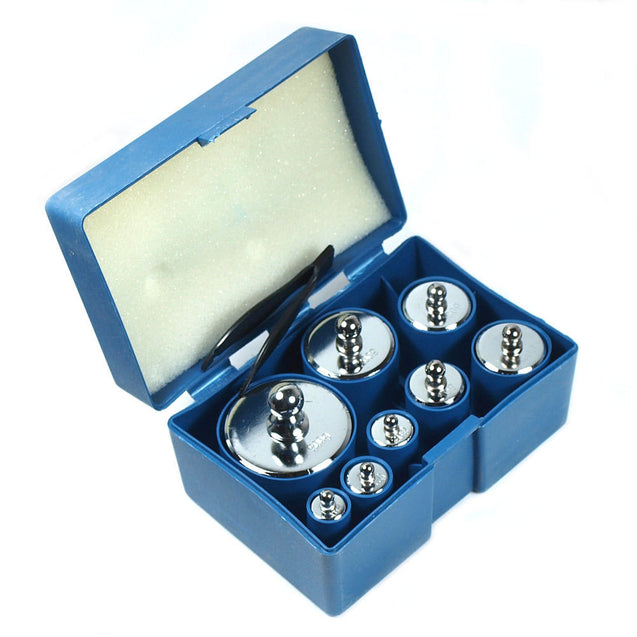 8 pcs 1000g 1kg calibration weight set with free HB-02 500g x 0.1g digital scale - Anyvolume.com