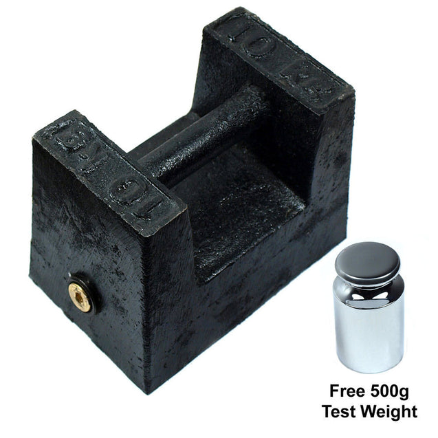 10 KG Cast Iron Calibration Weight with 500g Test Weight - Anyvolume.com