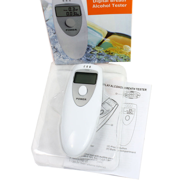 Digital Alcohol Breathalyzer Compact Portable Breath Tester Analyzer NO CONTACT