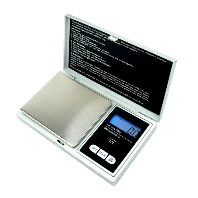 500g x 0.1g Digital Pocket Scale .1g Precision - portable - Silver - CS500 - Anyvolume.com