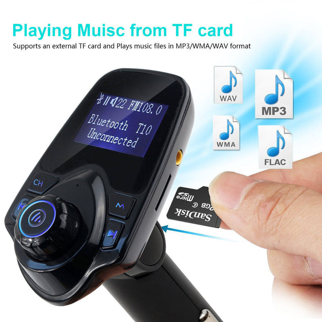 Bluetooth Car FM Transmitter AUX Wireless Radio Adapter USB Charger Mp3 Player - Anyvolume.com