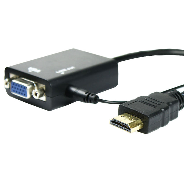 HDMI Male to VGA With Audio HD Video Cable Converter Adapter 1080P for PC - Anyvolume.com