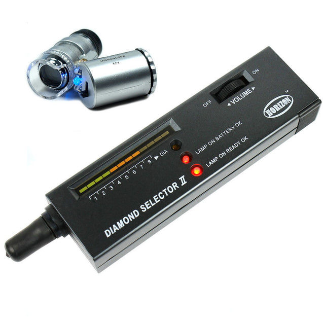 Jeweler diamond tool kit : Portable Diamond Tester - 60X Illuminated Loupe - Anyvolume.com