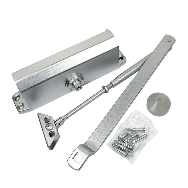 65-85 Kgs Size 4 Commercial Door Closer Silver Aluminium Alloy Heavy Duty