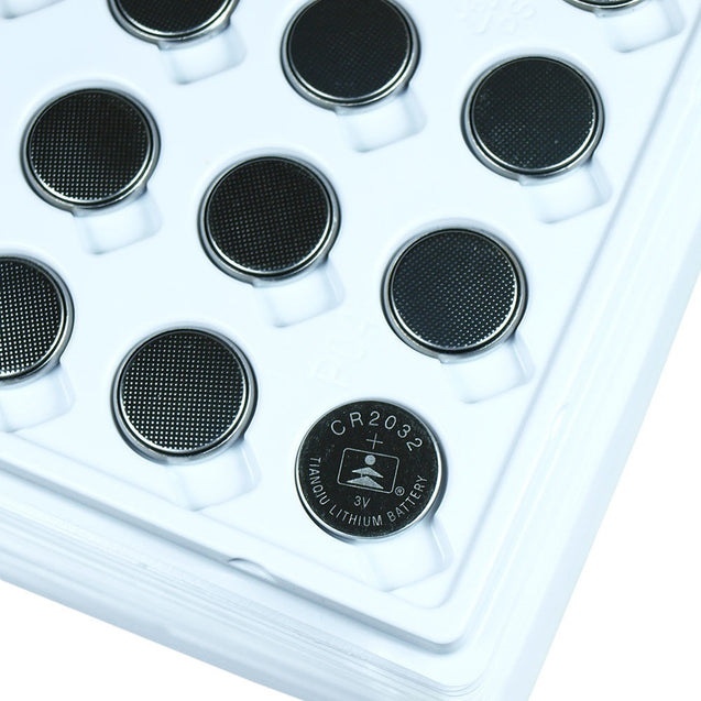 Wholesale 200 PCS Tianqiu CR2032 Lithium Battery 3V Button Cell-Bulk in Trays - Anyvolume.com