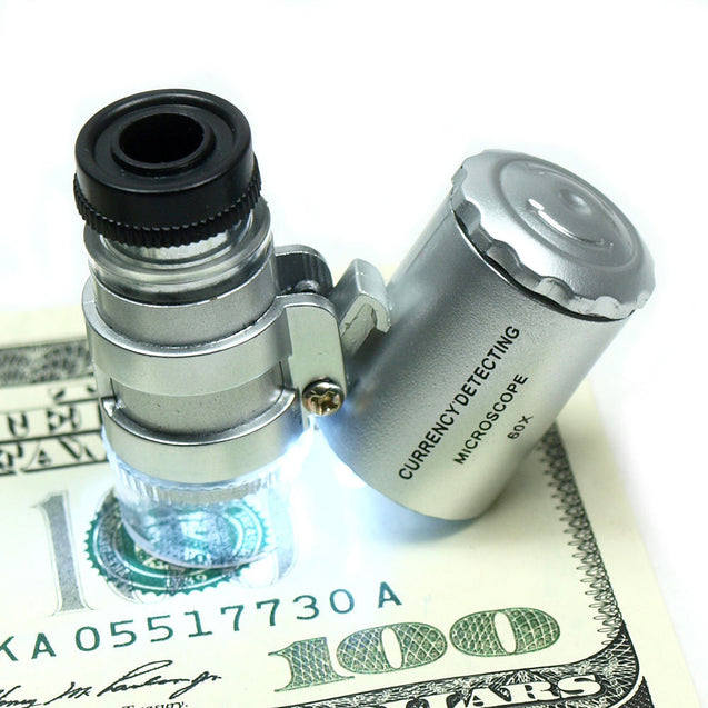 Wholesale Five (5) 60X Jewelers Loupes / Magnifiers LED & Fluorescence Lights - Anyvolume.com