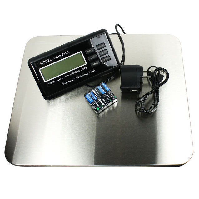 660lbs x 0.1 lb Digital Floor Bench Scale Steel Platform for Shipping Postal Pet - Anyvolume.com