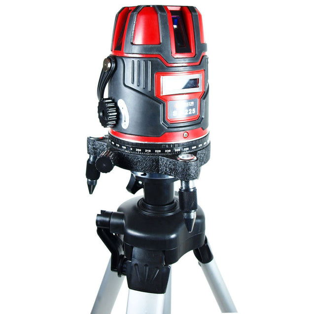 Shockproof 4V1H Self Leveling 360° Precision Laser Level Projector kit w/ Tripod - Anyvolume.com