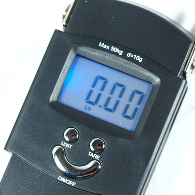 50kg x 10g Digital Hanging Scale 110lbs x 0.02lb portable travel luggage scale - Anyvolume.com