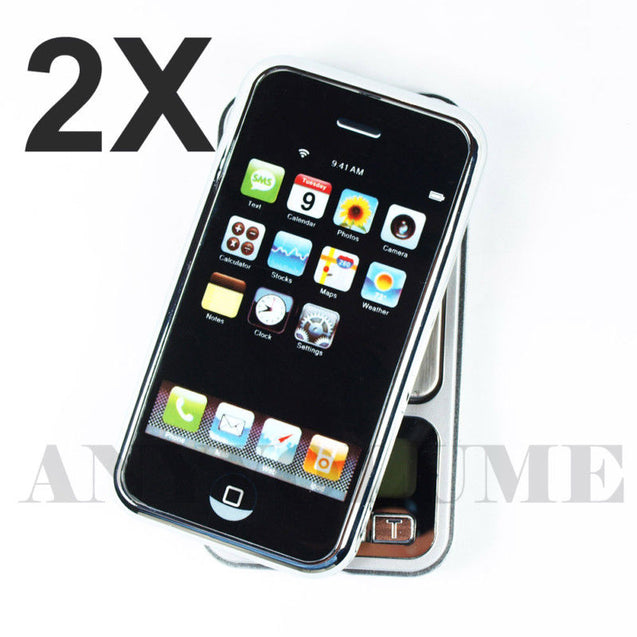 Two 0.01g x 200g iPhone Digital Pocket Jewelry Scales - 2X Precision Scales - Anyvolume.com