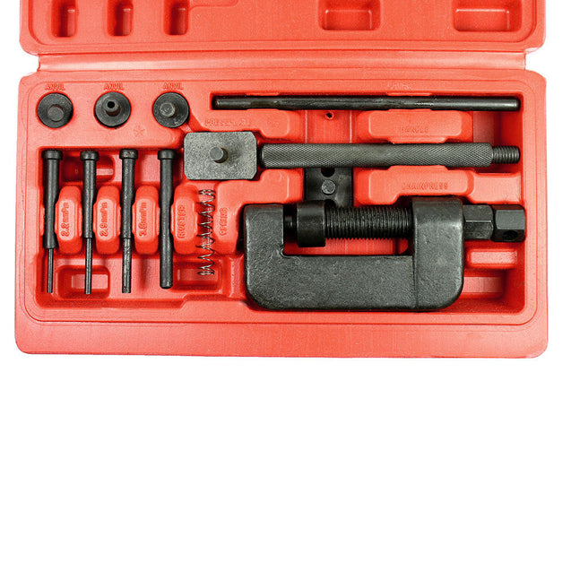 13PCS Chain Cutter Rivet Tool Set Riveting Breaker ATV/Bike/Motorcycle/Cam Drive - Anyvolume.com