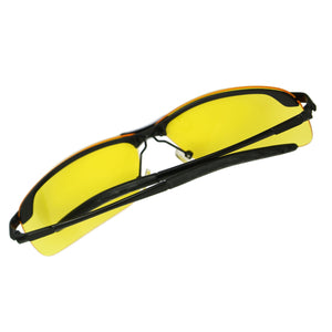 HD Night View Anti-Glare Polarized Glasses for Driving Yellow Lense UV400 Black - Anyvolume.com