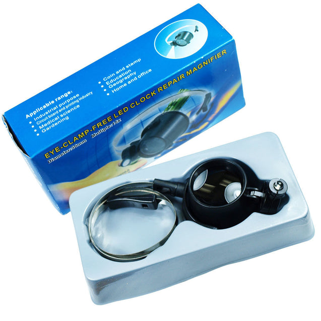 Lighted 15X Magnifier Eye Loupe - Detachable Headband for Jewelry Watch Repair - Anyvolume.com