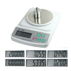 Digital Scale 500g x 0.01g for Precision Weighing & Counting - USB Wall Adapter - Anyvolume.com