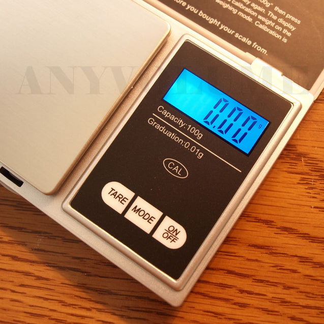 CS-100 Digital Pocket Scale 100g x 0.01g 0.01 Gram Portable Precision Scale - Anyvolume.com