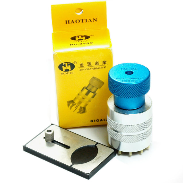 Watch Crystal Lift Crystal Glass Remover Inserter Fitting Tool with Dust Blower - Anyvolume.com