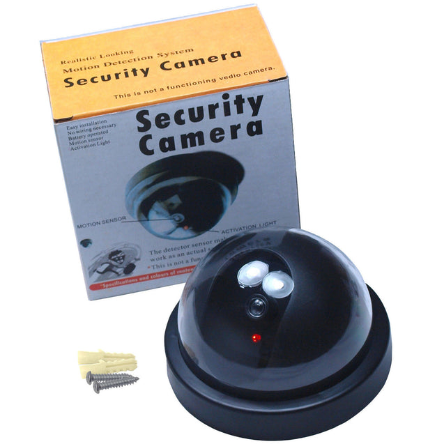 4 Pack Bullet & Dome Dummy Fake Surveillance Security Camera Combo - Black - Anyvolume.com