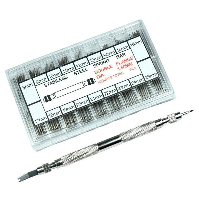 Watch Band Spring Bar Tool Link Remover Pusher + 360 Spring bars Strap Link Pins - Anyvolume.com