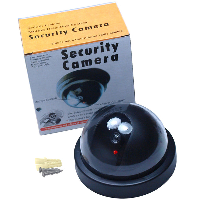 Fake Dummy Dome Surveillance Security Camera CCTV - Flashing LED Record Light - Anyvolume.com