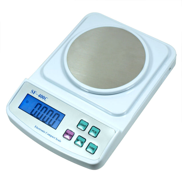 Digital Scale 500g x 0.01g for Precision Weighing & Counting - USB Wall Adapter