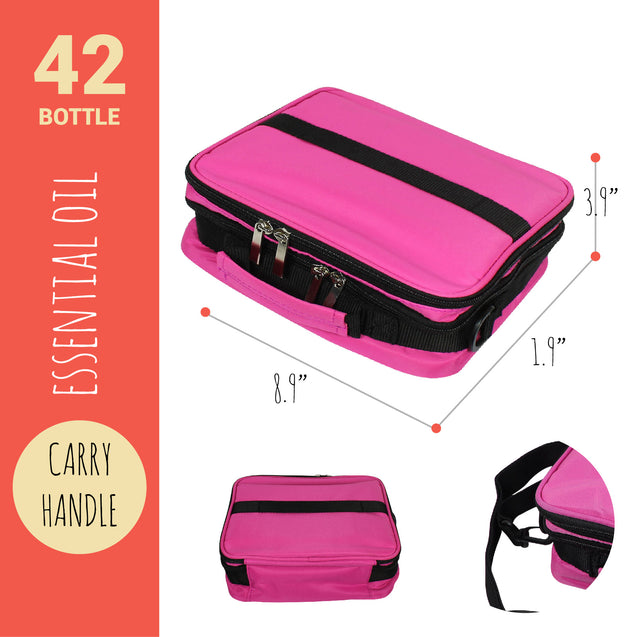 42 Bottle Essential Oil Carry Case 5ML~15ML Storage Aromatherapy Bag PUR FreShip