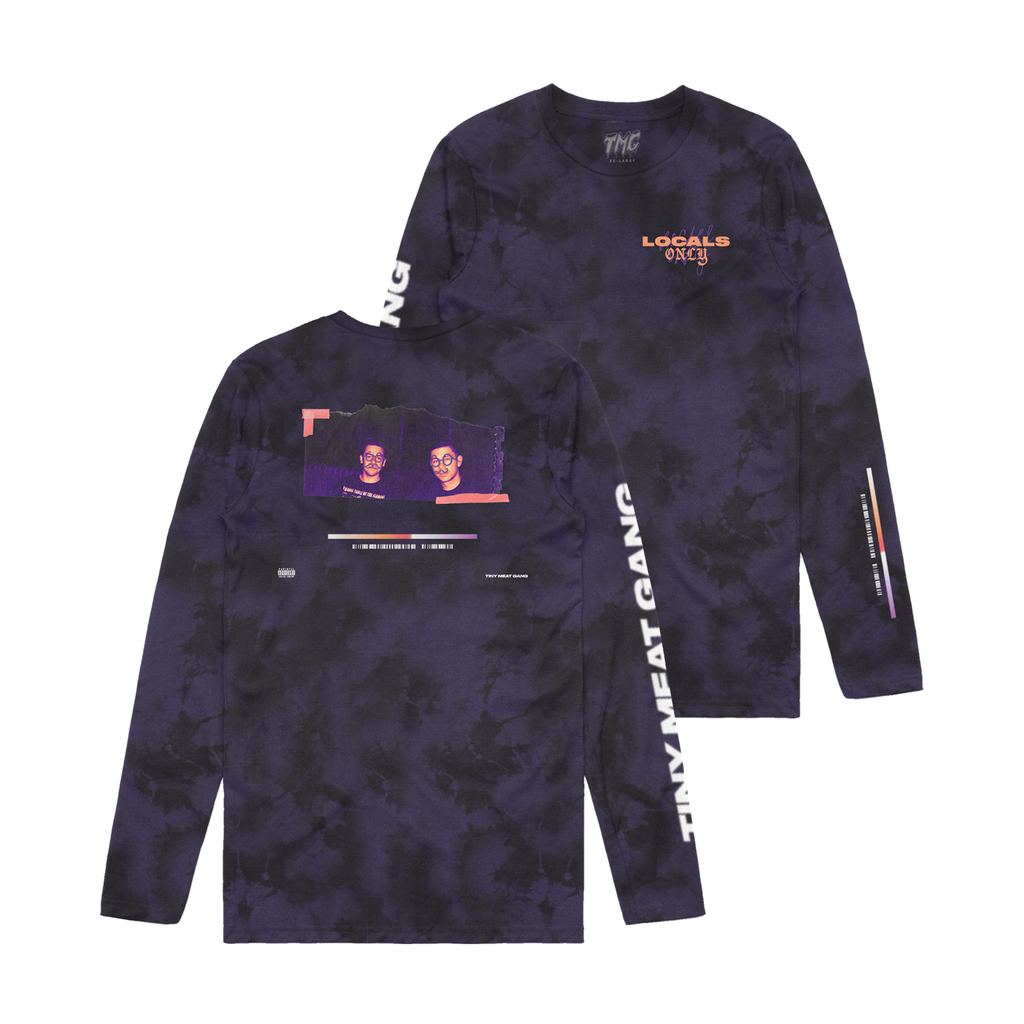 Locals Only Black/Purple Dye Long Sleeve