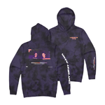 Locals Only Black/Purple Dye Hoodie
