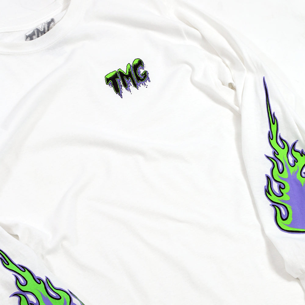 TMG Flames White Long Sleeve