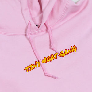 Tiny Meat Gang Embroidered Light Pink Hoodie