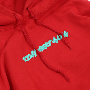Tiny Meat Gang Embroidered Red Hoodie