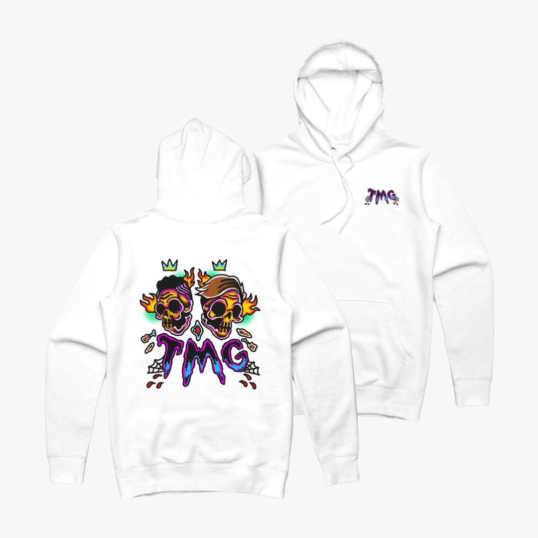 Traditional Skull White Hoodie