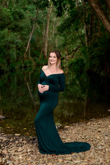 Forest Green Maternity Gown