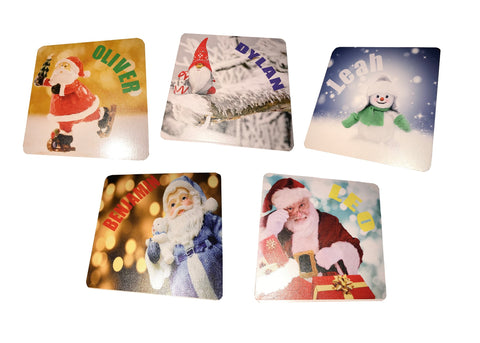 Personalised Christmas Coasters by Gift Plaques UK