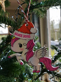 Unicorn Personalised Christmas Tree Bauble