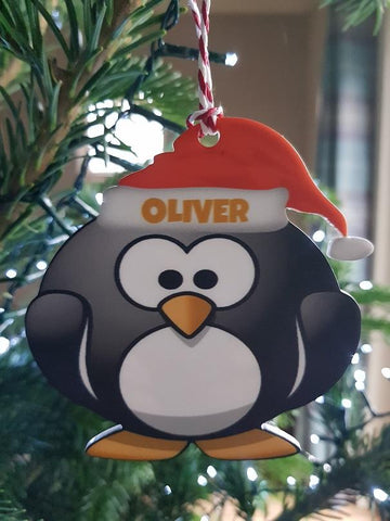 Penguin Personalised Christmas Tree Bauble
