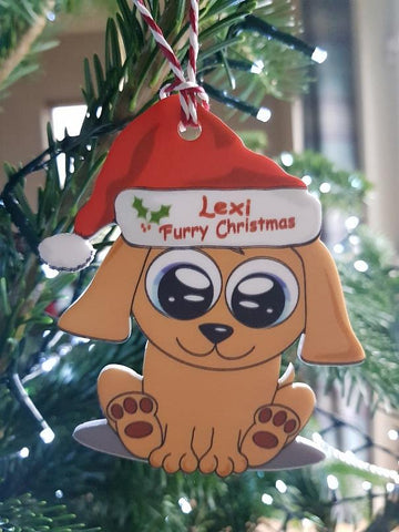 Dog Personalised Christmas Tree Bauble